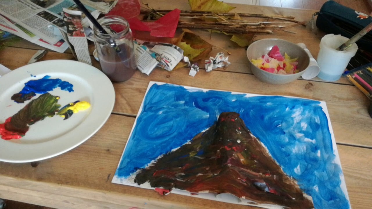 Vulkanen schilderen met warme en koude kleuren youtube