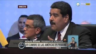 V7inter - VII Cumbre de las Américas en Panamá: discurso de Nicolás Maduro
