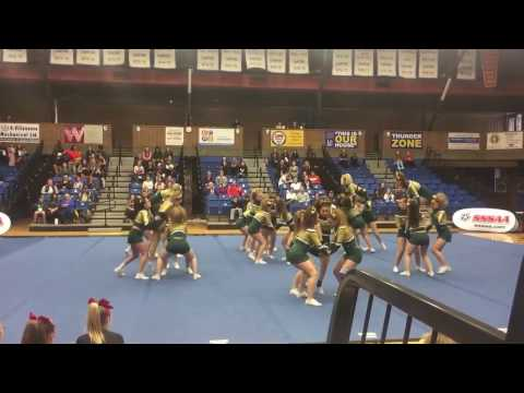 St Patrick High School Saints Cheer SSSAA 2017 - Thunder Bay ON