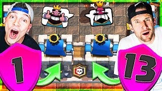 DON'T MISS THIS!! • LVL 1&13 in 2V2 • Clash Royale