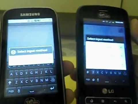 LG Optimus Slider VS Samsung Intercept (HD) Part 1