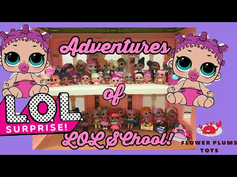 LOL Surprise Dolls Adventures At School, Playing at Recess Learn Japanese Flower Plums Toys