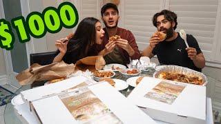 CRAZY $1000 FOOD CHALLENGE!!!