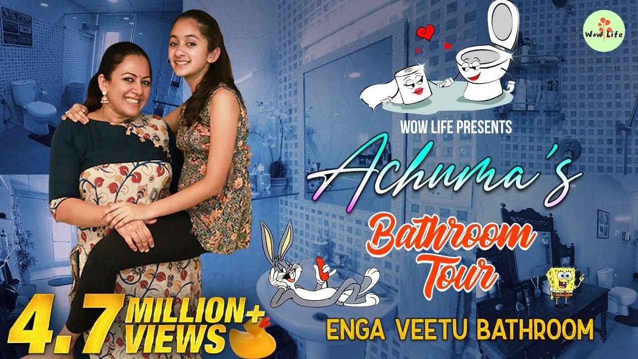 "Download Wow Life Presents ""Achuma's Bathroom Tour"" Enga Veettu Bathroom ft. Archana & Zaara #WowLife"