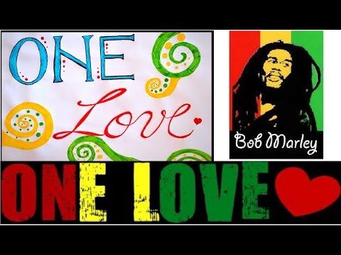 DIY Fancy Letters Lyrics Art - Bob Marley - One love - DIY Crafts Tutorials - Giulia's Art