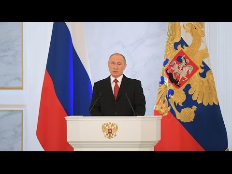 Putin delivers annual address to Federal Assembly in Moscow (FULL VIDEO)