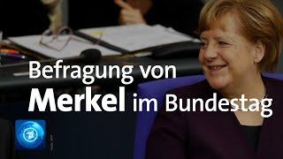 Bundeskanzlerin merkel (cdu) stellt sich am mittwoch, 18. dezember 2019, den fragen der abgeordneten in einstündigen befragung bundesregierung. seit ...