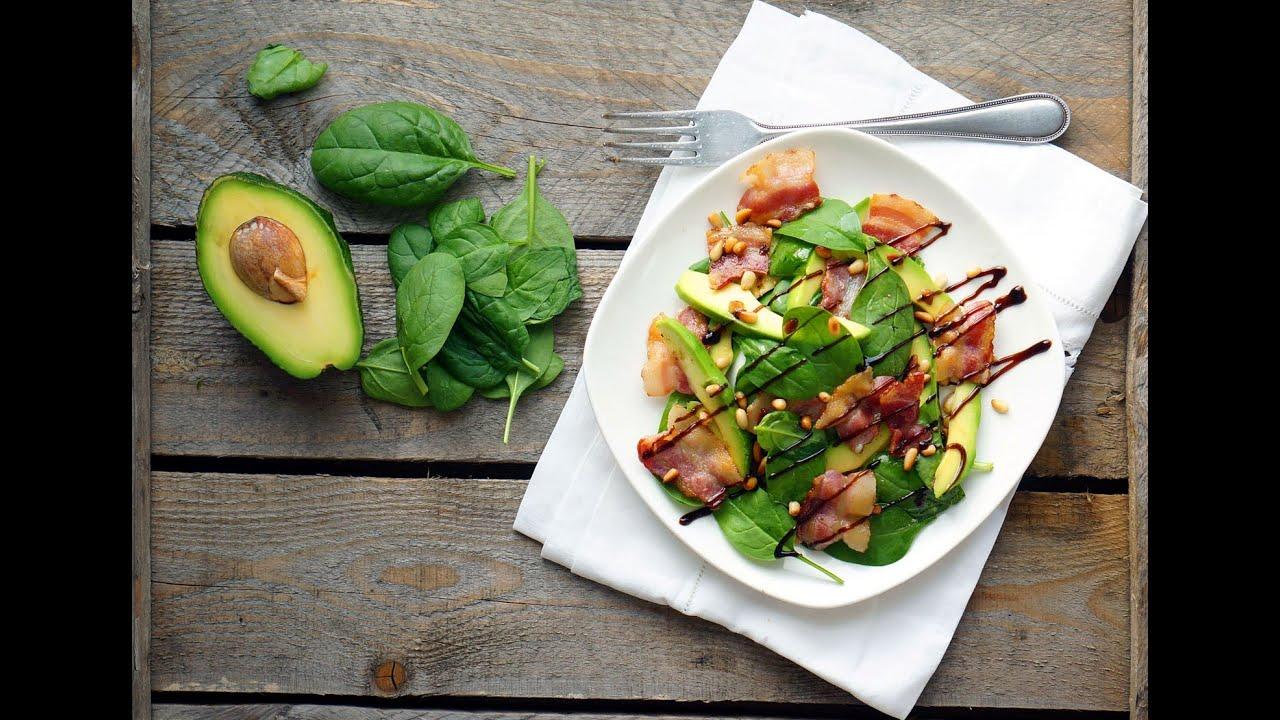 Салат с авокадо и беконом от Джейми Оливера - YouTube