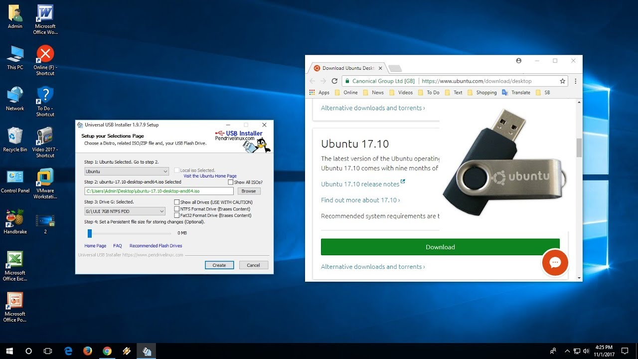 how to create bootable pendrive for ubuntu