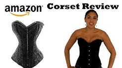 (Amazon.com) Black Floral Tapestry Steel-Boned Corset Review | Lucy's Corsetry