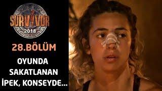 Oyunda sakatlanan İpek, konseyde...  | 28.Bölüm | Survivor 2018