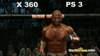 UFC Undisputed 2010: Graphics Xbox 360 and Playstation 3 Comparison Gameplay HD Video