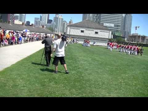 Toronto Fort York Troops salute Lt Governor General David Charles Onley
