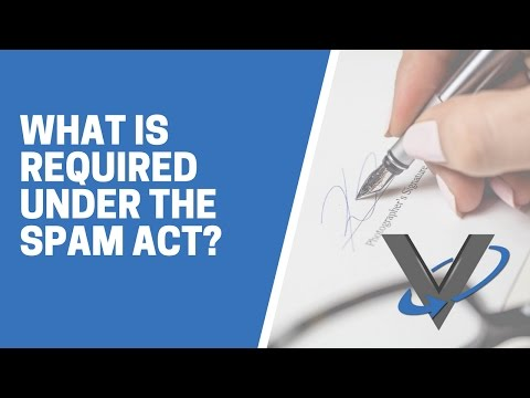 What Is Required Under The Spam Act?