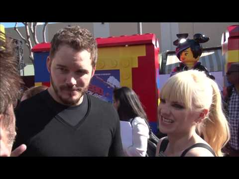 Celebrity Interviews from the Lego Movie Premiere - Chris Pratt Will Arnett Will Farrell