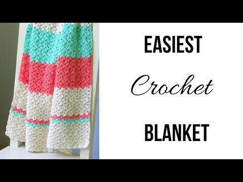 Easiest Crochet Baby Blanket