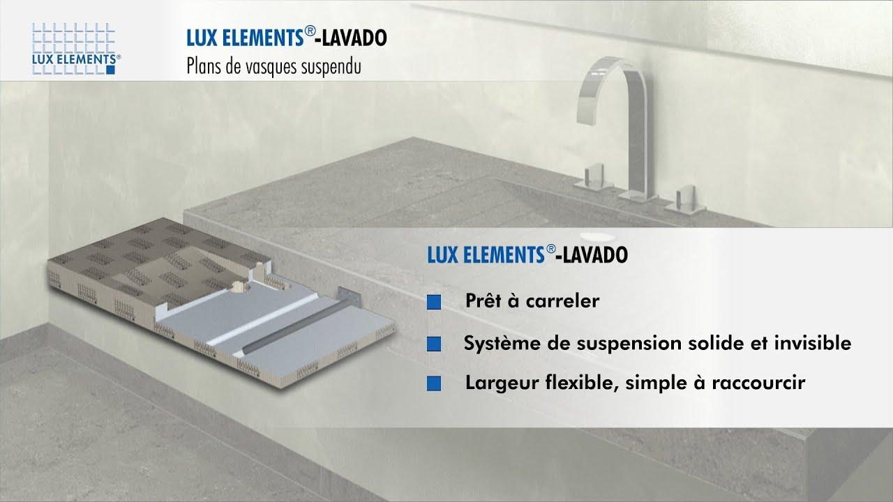 Plan Vasque En Pierre lux elements produit : lavado-float - plan de design et suspendu