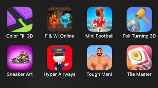 Color Fill 3D,Fireboy and Watergirl,Mini Football,Foil Turning ,Sneaker Art,Hyper Airways,Tough Man,