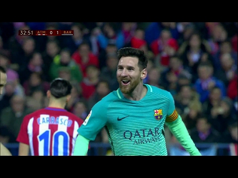 Lionel Messi vs Atletico Madrid (Away) CdR 16-17 HD 1080i By