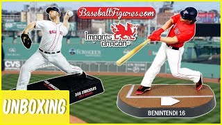 "MLB Boston Red Sox Andrew Benintendi & Chris Sale 6"" Figures Unboxing 