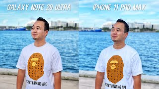 Galaxy Note 20 Ultra vs iPhone 11 Pro Max Camera Test Comparison!