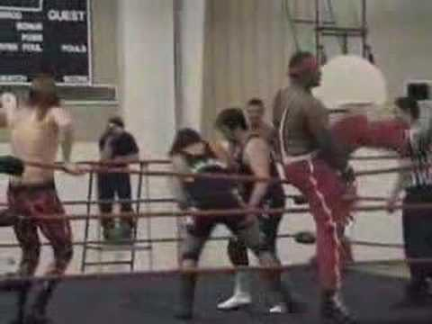 Download AWWL Part 2 6-man tag team action