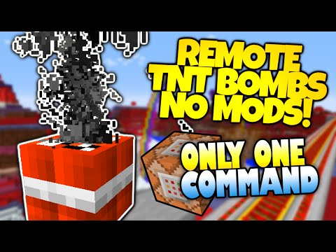 Tnt bombs huge explosions only one command minecraft redstone