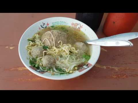 Kuliner Palembang Street Food 13 Bakso Petir Linggau Meatball Soup Indonesia