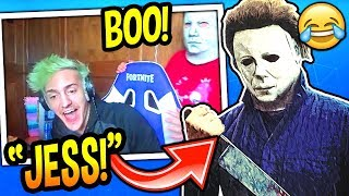 NINJA GETS *JUMPSCARED* BY HIS WIFE! (FUNNY) HALLOWEEN PRANK! Fortnite SAVAGE & CREEPY Moments