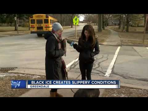 Black ice creates slippery conditions