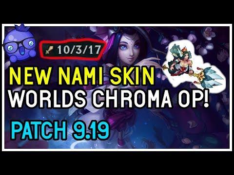 NEW Splendid Staff Nami with Worlds Chroma gets you kills!