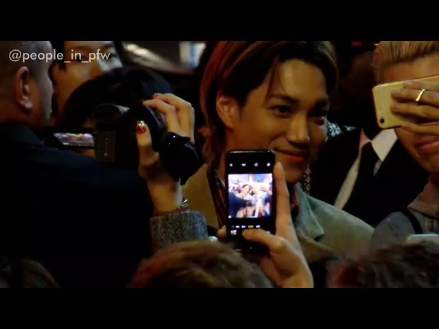 Kai ?? / Kim Jong-in from EXO - Exit from Gucci fashion show in Paris - 24.09.2018