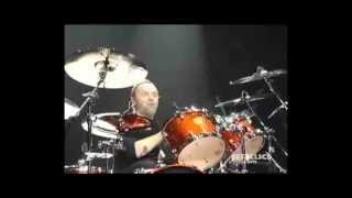 Lars Ulrich Gets Hit In The Head With A Gym BAll