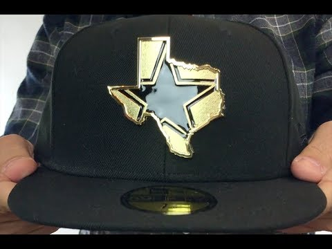 Cowboys  GOLD STATED METAL-BADGE  Black Fitted Hat by New Era - YouTube 564c8673582c