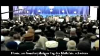 Versprechen der Ahmadiyya Muslime die wahre Botschaft des Islams zu verbreiten