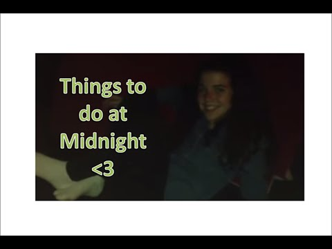 Things to do at midnight | with Liberty Baker