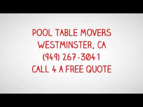 Pool Table Movers Westminster