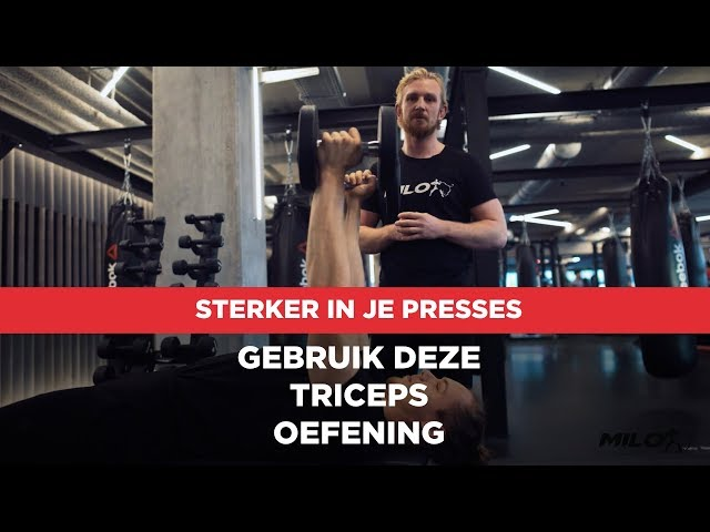 Rolling Dumbbell triceps extensions voor krachtige triceps!