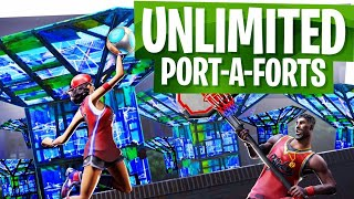 UNLIMITED Port-a-Fort Glitch in Fortnite! - Fortnite Battle Royale Glitch