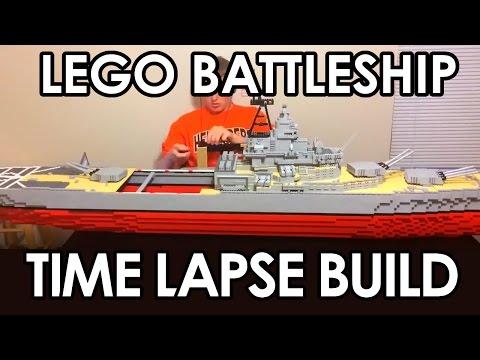 lego-7'-battleship-time-lapse-build【uss-missouri-bb-63】