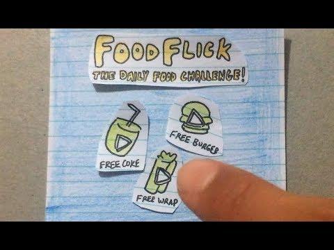 FoodFlick Mobile Game - Paper Prototype
