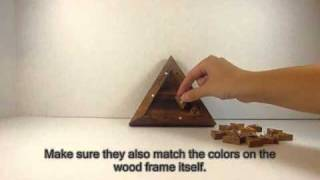 Color Match Triangle Wooden Puzzle Brain Teaser - All About