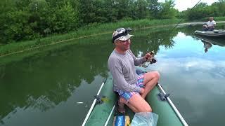Рыбалка сплавом на лодке спиннинг ультра лайт всегда ловим