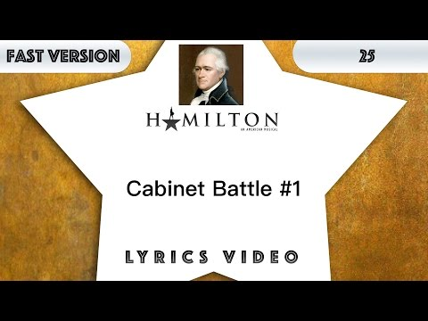 25 episode: Hamilton - Cabinet Battle #1 [Music Lyrics] - 3x faster