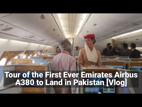 ProPakistani Tours the Airbus A380 that Landed in Islamabad