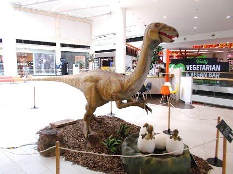 Dinosaur with eggs
