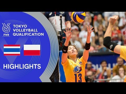 THAILAND vs. POLAND - Highlights Women | Volleyball Olympic Qualification 2019