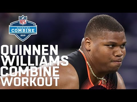 Quinnen Williams Combine Workout: New Top Overall Pick?   2019 NFL Scouting Combine Highlights