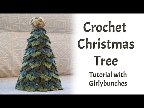 Crochet Crocodile Stitch Christmas Tree Tutorial | Girlybunches