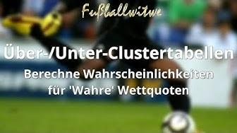 Über-/Unter Clustertabellen – Wahrscheinlichkeiten und 'wahre' Wettquoten berechnen